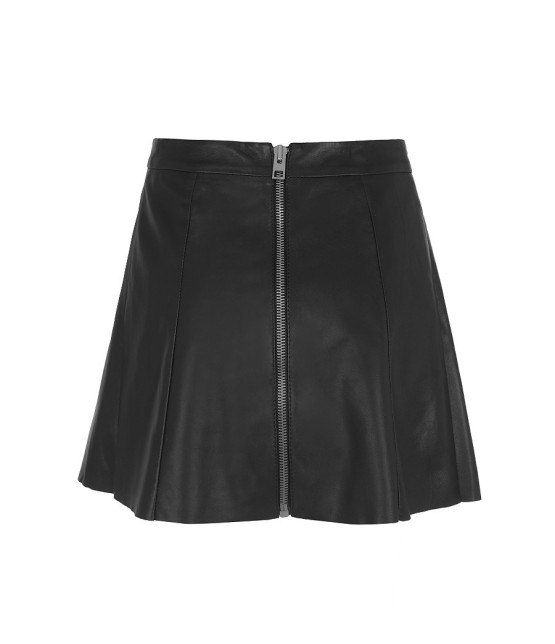 All Saints Sens Leather Skirt-Back