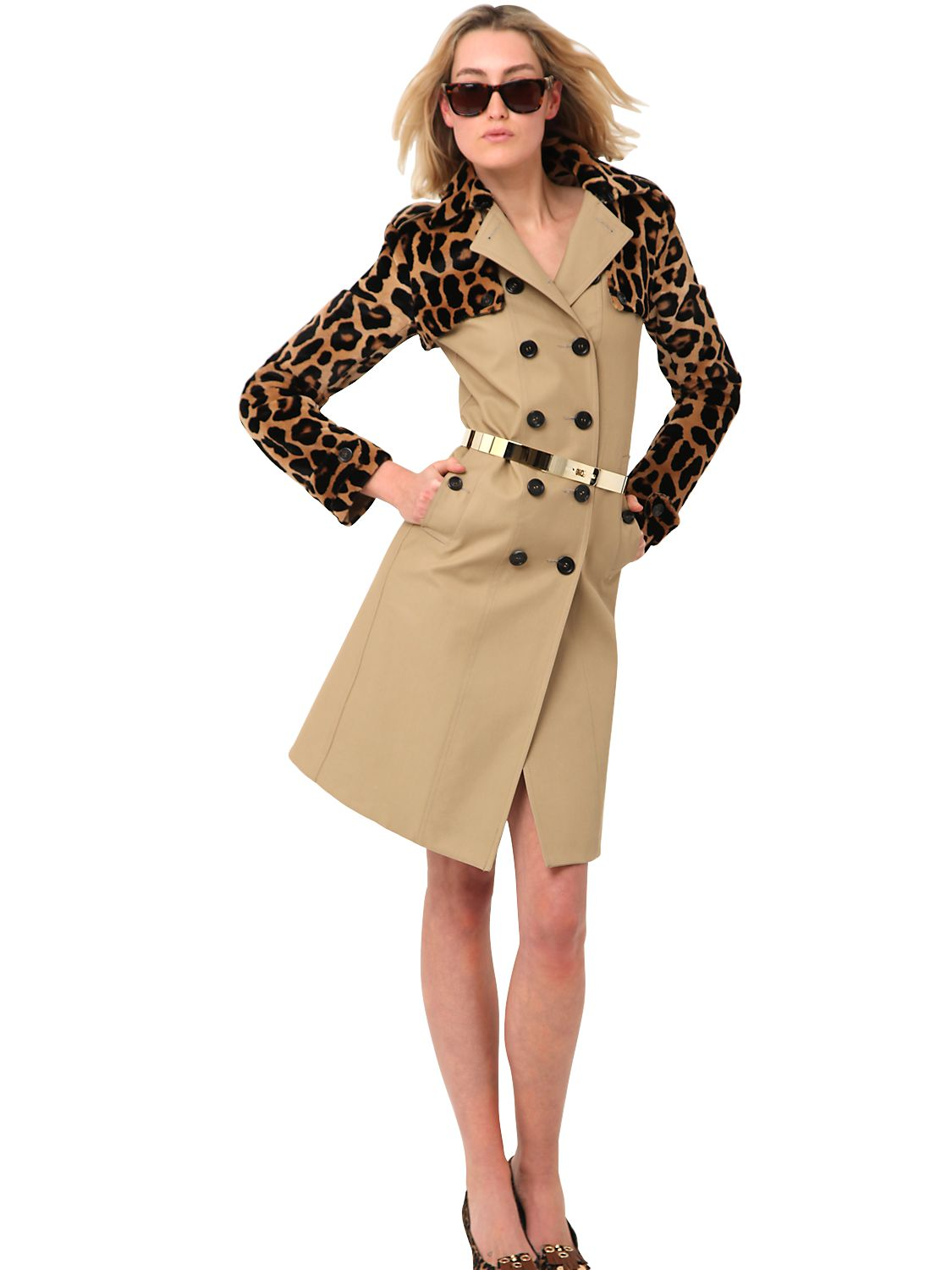 Burberry Leopard Trench Coat