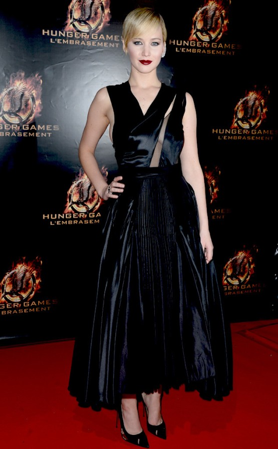 Jennifer Lawrence Hunger Games Paris Premiere