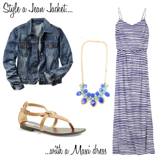 Jean Jacket with a Maxi dress