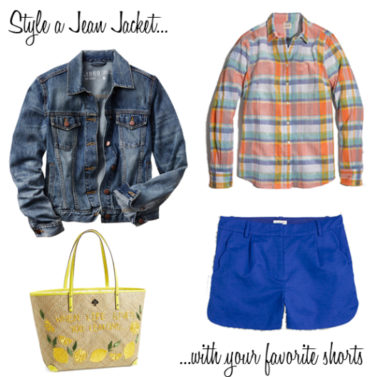 Jean Jacket and your favorite shorts