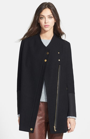 Sam Edleman Asymmetric zipped coat